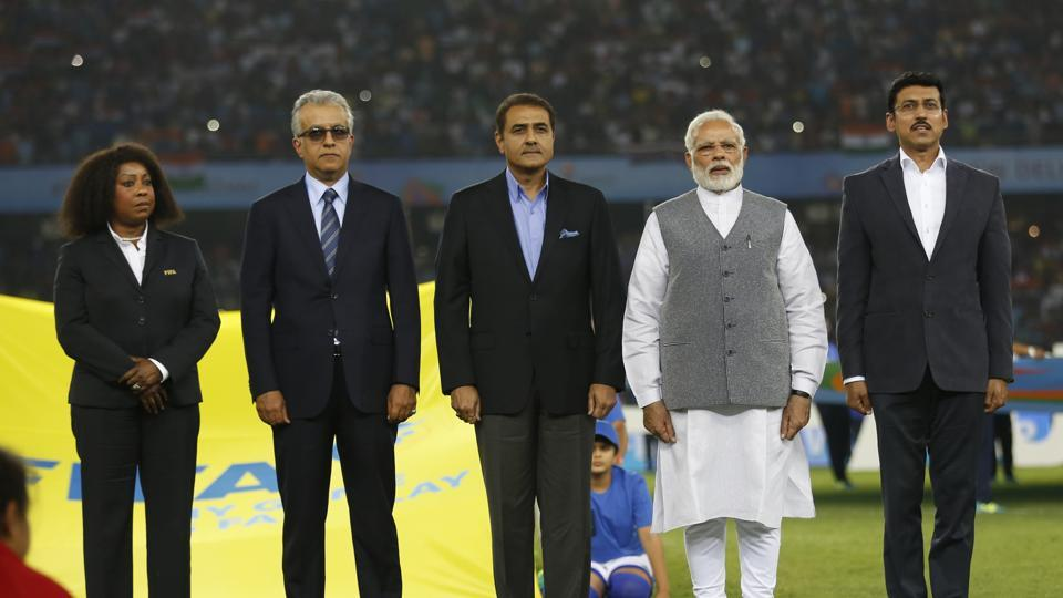 Prime Minister Modi encouraged the players and congratulated both teams for this match. (AP)