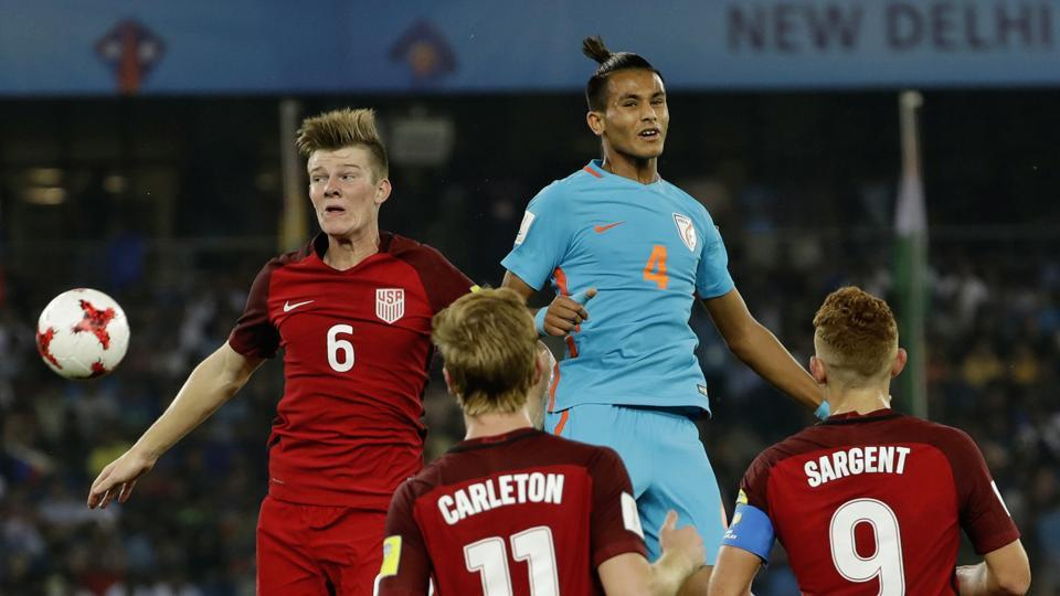 The United States of America got off to a fast start as India struggled to control the game. (AP)