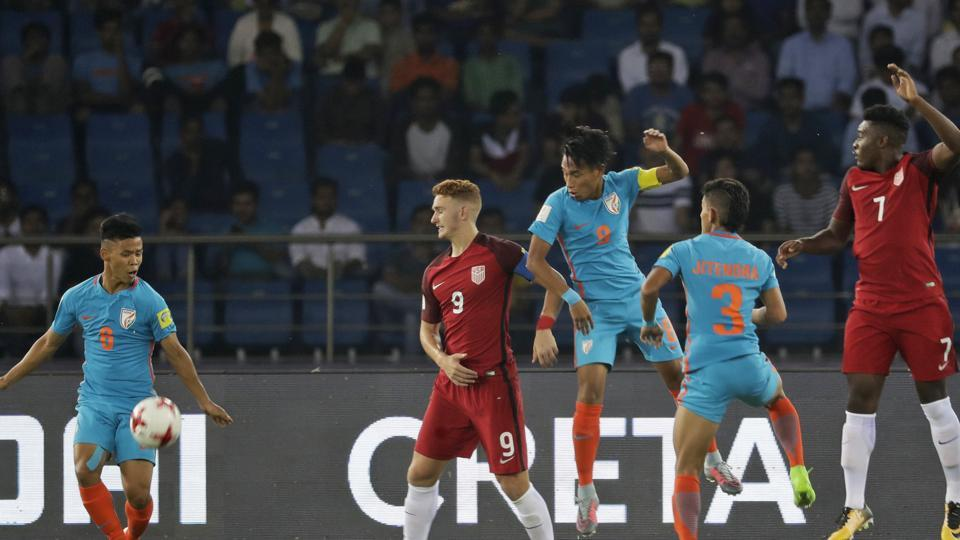 India put up a decent performance in their first-ever major FIFA World event but they lost 0-3 to the United States of America in the FIFA U-17 World Cup. (AP)