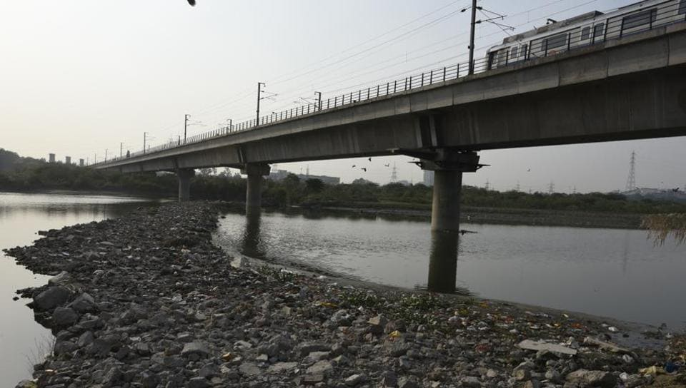 A temporary road that had come up on the river bed near Yamuna Bank Metro Station was demolished by DDA official a day after HT published the report on September 1. The road has now resurfaced.