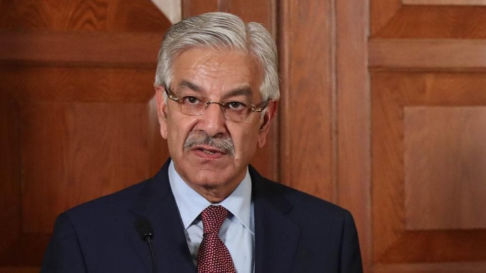Pakistan's Foreign Affairs Minister Khawaja Mohammed Asif