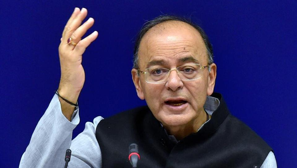 Union Finance Minister Arun Jaitley addressing media after the 22nd meeting of the Goods and Services Tax (GST) Council, in New Delhi on Friday.