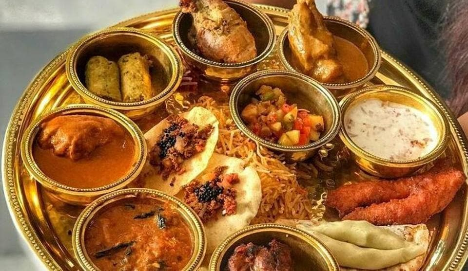 Veda Restaurant,Ravan Thali,Meaty Thali