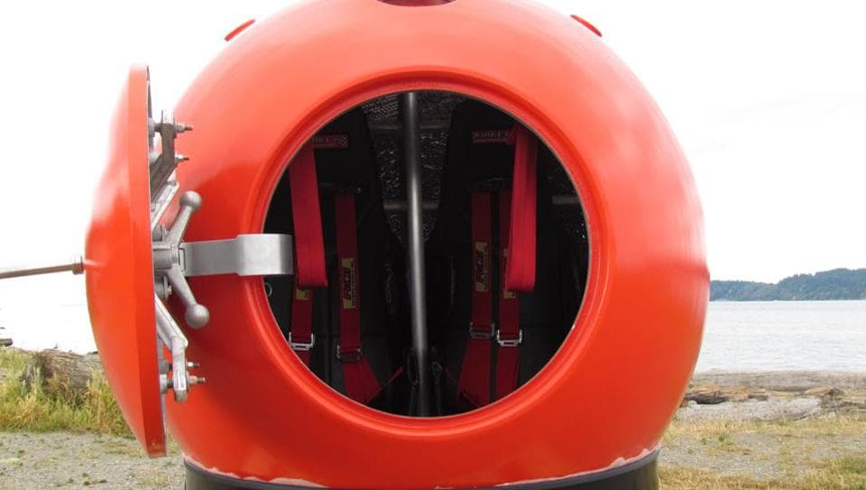 The Survival Capsule can withstand t extreme pressure, heat and force.