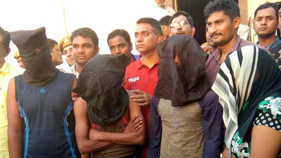 Accused in the custody of Alwar police on Saturday.