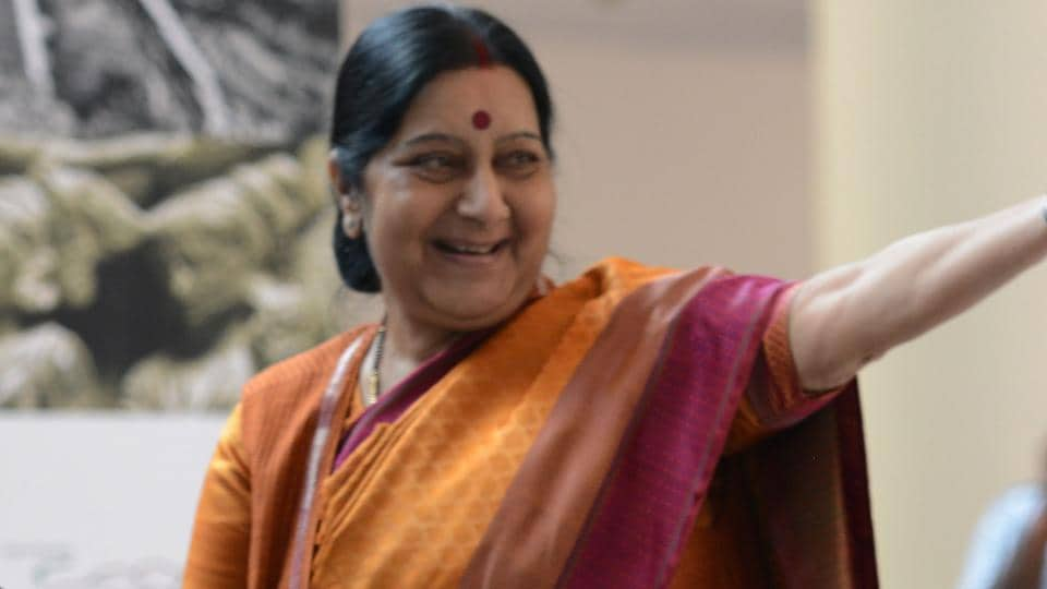 Sushma Swaraj in New Delhi on September 28, 2017.