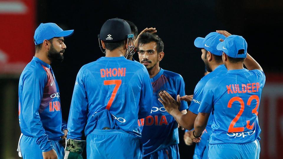 Yuzvendra Chahal got the wicket of Glenn Maxwell for the fourth time in four matches as Australia stuttered in the middle overs.  (BCCI)