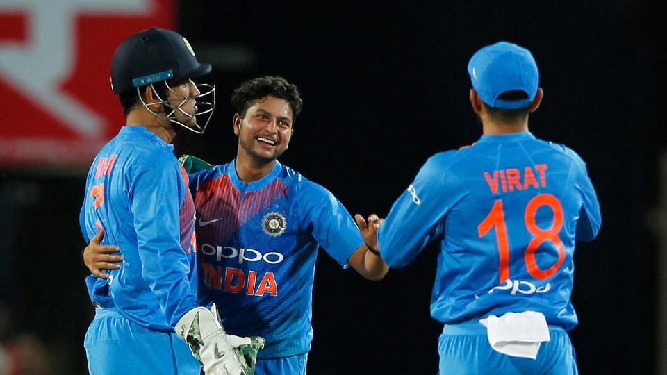 Kuldeep Yadav picked up two wickets as Australia stumbled. (BCCI)