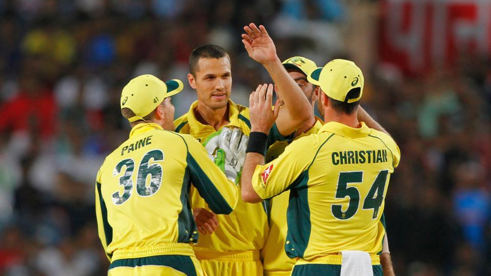 Nathan Coulter-Nile removed Rohit Sharma as Australia looked to break their ODI jinx. (BCCI)