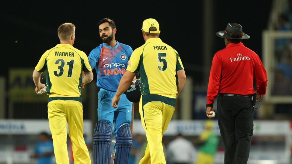 This was India's fourth consecutive win over Australia at home and they lead the three-match series 1-0, with the next game to be played in Barsapara. (BCCI)