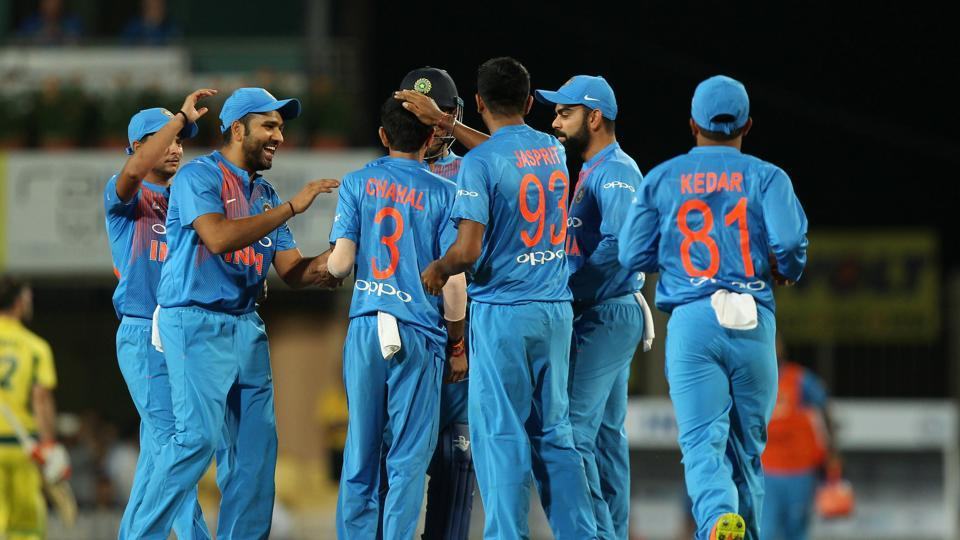 India's bowlers put in a clinical display as they guided the team to a nine-wicket win in the first T20I against Australia in a match reduced to six overs due to rain as Virat Kohli's side continued their winning streak against Australia. (BCCI)