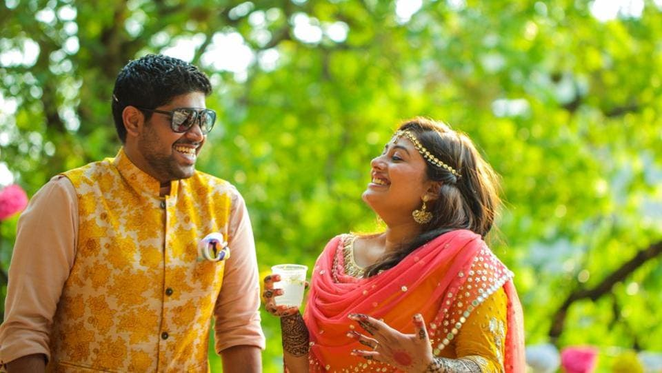 """""""I believe folded clothes make you very happy, and this is very hard for me, but yeah I will fold clothes,"""" Jonathan Sreekumaran promised his wife Subhashree Das on their wedding in 2016"""