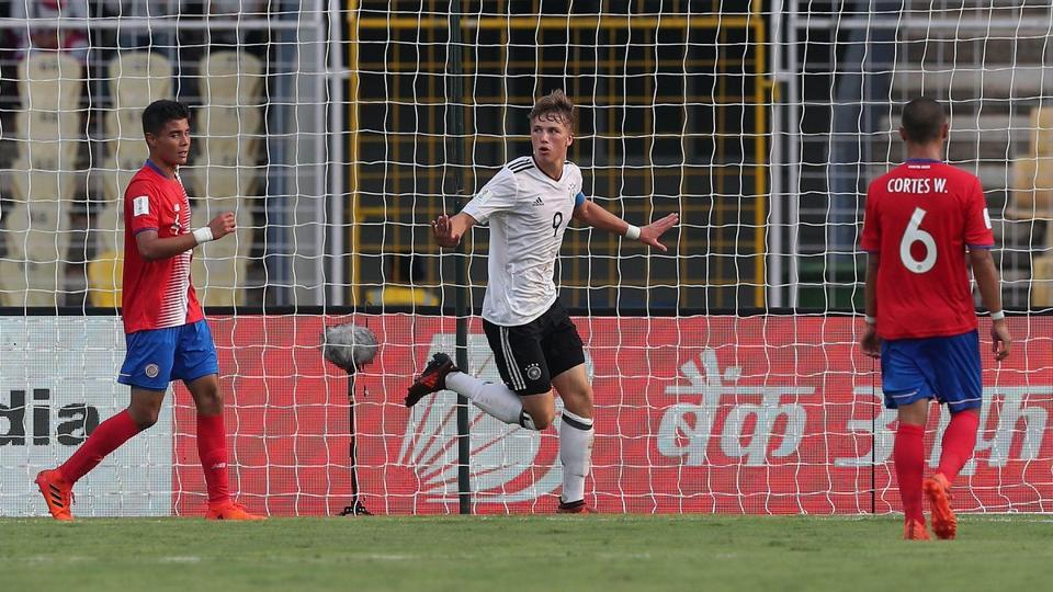 Jann-Fiete Arp starred in Germany's 2-1 win over Costa Rica in their opening FIFA U-17 World Cup game.