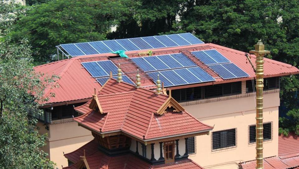 solar energy,Shree Ayyappa temple,global warming