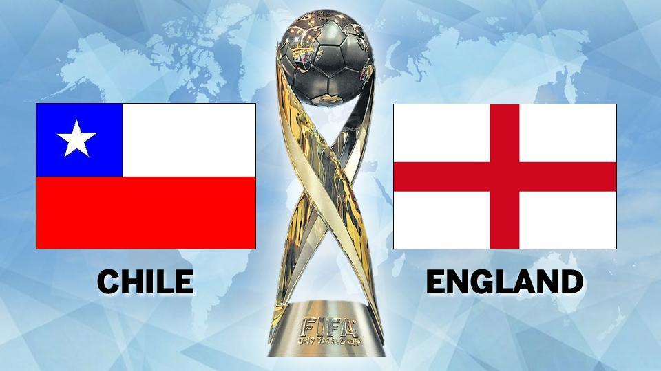 Chile lost 4-0 to England in the opening Group F game at Kolkata in the FIFAU-17 World Cup. Get full football score of Chile vs England, FIFA U-17 World Cup, here.