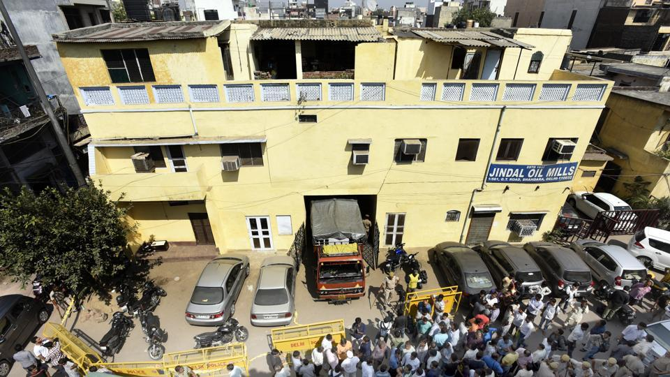 Urmila Jindal and her three daughters, Sangeeta Gupta, 56, Nupur, 48 and Anjali, 38, were found dead in their first floor flat, while the body of their 42-year-old security guard, Rakesh, was found in the parking area of this haveli.