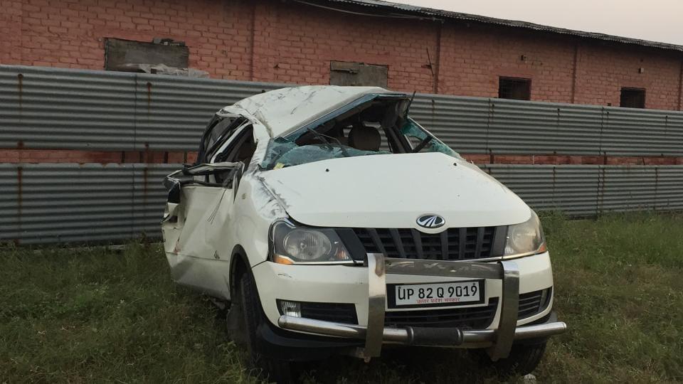Galgotia University,Car crash,Accident