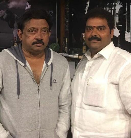 Ram Gopal Varma posted a picture with YSRCP member Rakesh Reddy and announced that he would be producing Lakshmi's NTR.