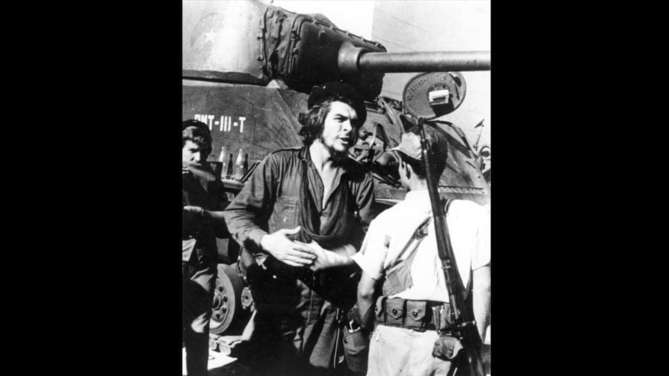 Argentinian born Cuban revolutionary Ernesto Che Guevara seen during the battle of Santa Clara in 1958. From being a heroic defender of the poor to a cold-hearted executioner, 'Che' Guevara , was known for his Marxist humanism and revolutionary ideas. Fifty years since his death on October 9,1967, the legend of 'Che' still lives in the voices of the unheard. (Photo by Keystone / Getty Images)
