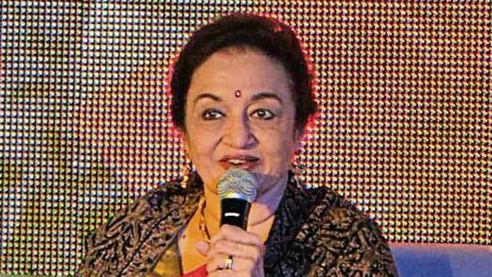 Veteran actor Asha Parekh during a session on the third day of Khushwant Singh Literature Festival in Kasauli.