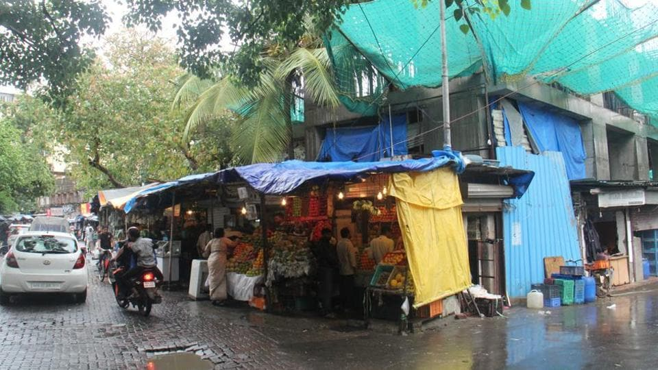 The vendors have been operating from makeshift shops next to the under-construction plot.
