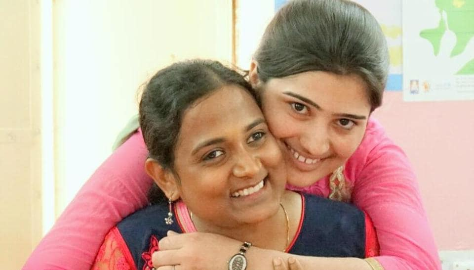 (Left) Kriti Bharti with Sushila, whose child marriage was annulled.