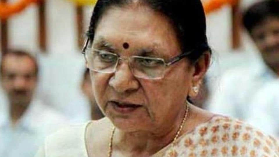Former Gujarat chief minister Anandiben Patel