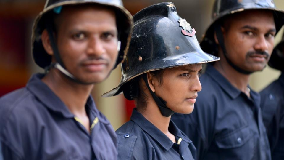 Like all government jobs, the fire services represent a solid opportunity for young women -- respect, a good salary and a shot at making something for themselves in a big city like Mumbai. (Aniruddha Chowdhury / Mint)