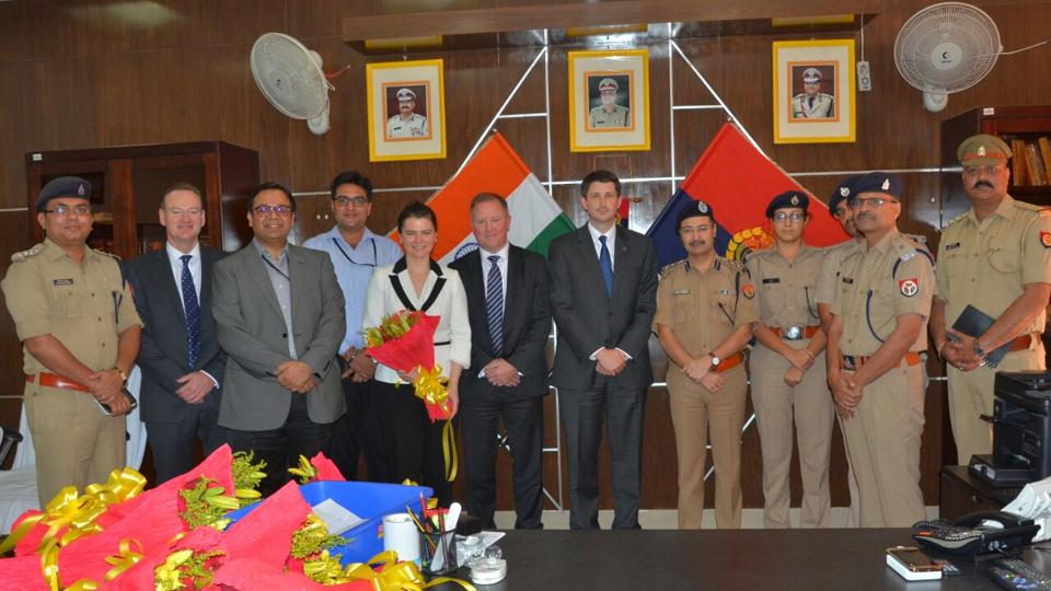 Scotland Yard's cyber unit's service delivery director, Alex Blatchford and three other members visited the cyber cell and met their counterparts in Noida.