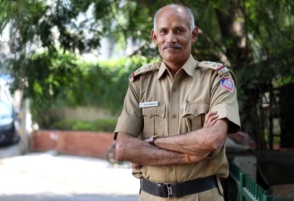 Delhi Police sub-inspector, Syamalan PP, has made a world record in calligraphy writing.