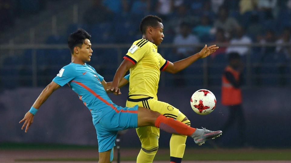 Colombia's player hit the woodwork and failed to create scoring opportunities.  (PTI)