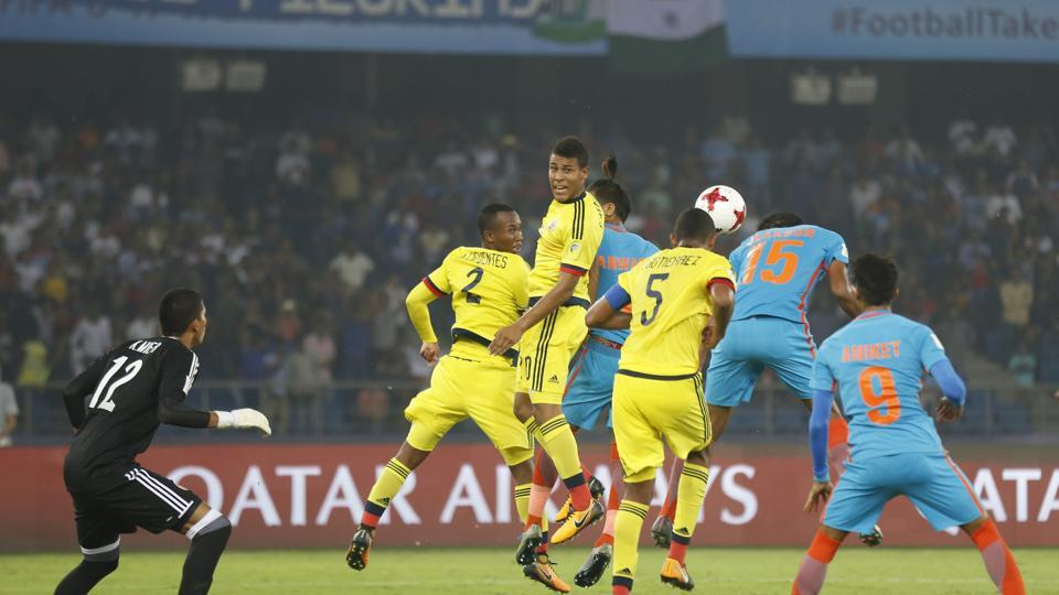 At half-time, India had put up a great performance as they held Colombia 0-0. (AP)