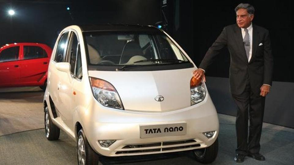Tata company chairman Ratan Tata during the launch of Tata Nano in January 2008.