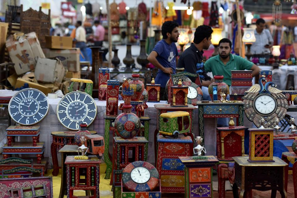 Over 350 stalls of arts and craft material, clothing and accessories have been put up by the artisans' at Shilpotsav festival.