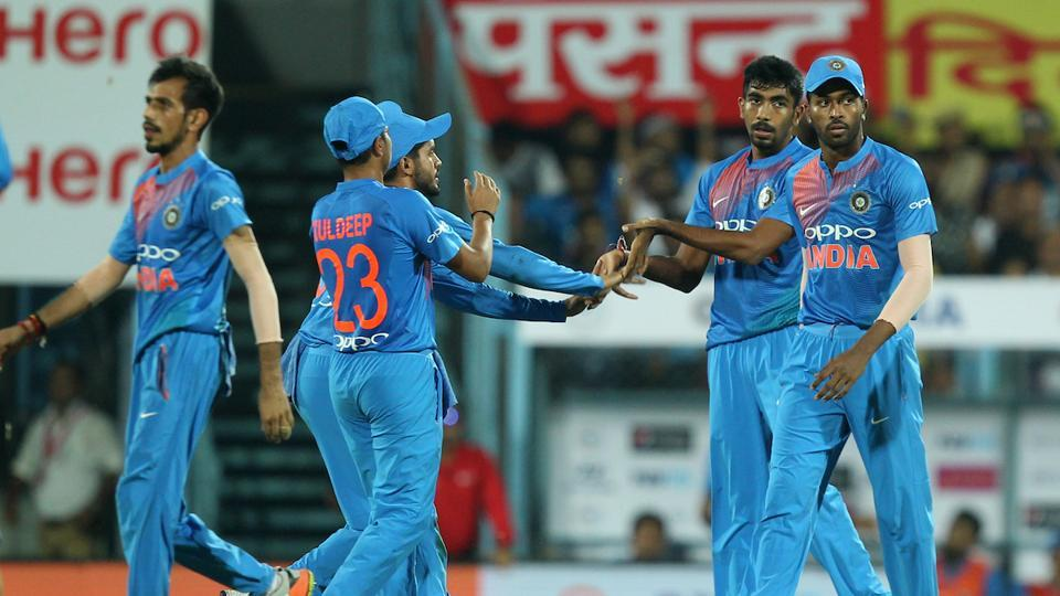 In reply, Jasprit Bumrah and Bhuvneshwar Kumar removed Australian openers David Warner and Aaron Finch inside the Powerplay.  (BCCI )