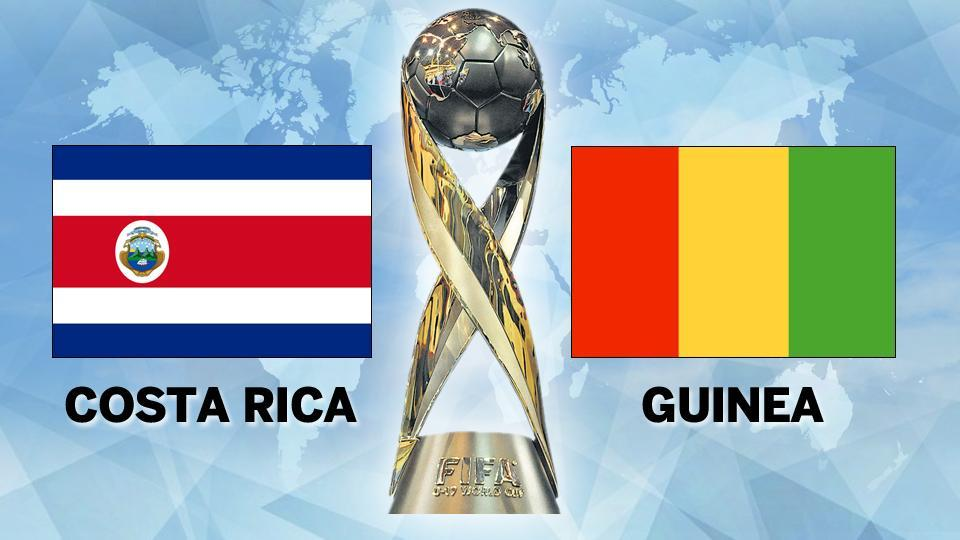 Costa Rica were held by Guinea 2-2 in FIFAU-17 World Cup match on Tuesday. Get match highlights score of Costa Rica vs Guinea here.