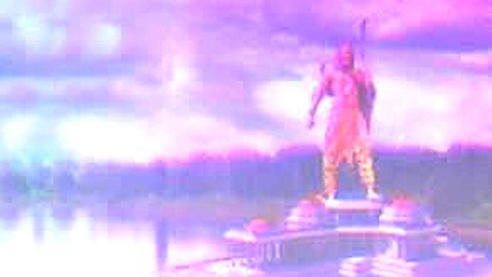 Adityanath government is planning to install a grand statue of Lord Ram in a warrior pose on the River Saryu in Ayodhya.