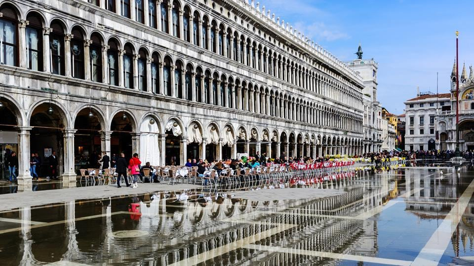 The Procuratie Vecchie was built in the 16th century and is also the longest building in Venice.