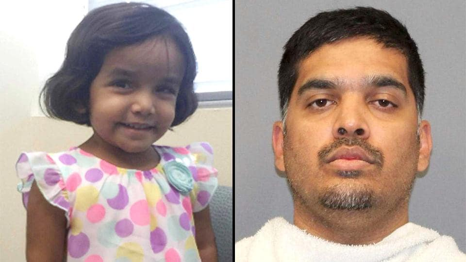 Three-year-old India-born girl Sherin, and her father Wesley Mathews, who was arrested on a charge of abandoning or endangering a child. (AP Photos)