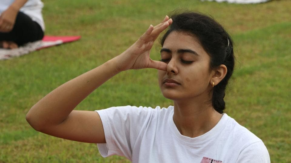 Image result for Yoga is the mother of all exercises: Vice President