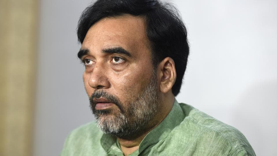 Delhi cabinet Minister and AAP Delhi President Gopal Rai talking with media persons after attending the special Session of the Legislative Assembly of National Capital Territory of Delhi on the issue of Metro Fare Hike at Delhi Vidhan Sabha, Old Secretariat in New Delhi, India on Tuesday.