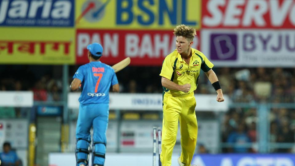 Adam Zampa removed MS Dhoni and Kedar Jadhav in quick succession to put India in all sorts of trouble.  (BCCI )