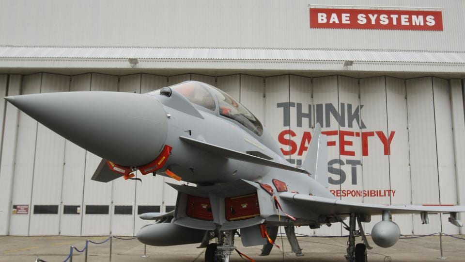 A Sept. 7, 2012 file photo of a Eurofighter Typhoon at BAE Systems, Warton Aerodrome, near Warton northwest England.