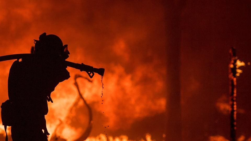 Fire brigade team rushed to the spot and blaze took hours to be doused, according to officials. Prima facie, the fire is suspected to have been caused by a short circuit.