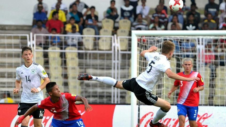 Germany will be looking for their second win as they take on Iran in the FIFA U-17 World Cup on Tuesday.