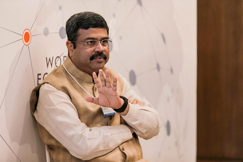Petroleum Minister Dharmendra Pradhan at the India Economic Summit 2017 in New Delhi on Oct 5, 2017.