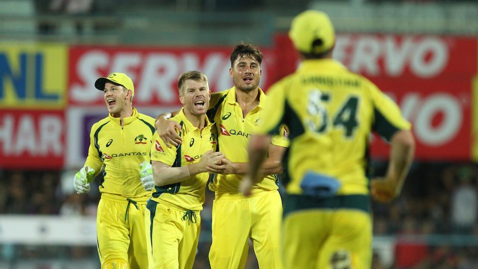 Nathan Coulter-Nile, Andre Tye and Marcus Stoinis took a wicket each as Australia restricted India to 118.  (BCCI )