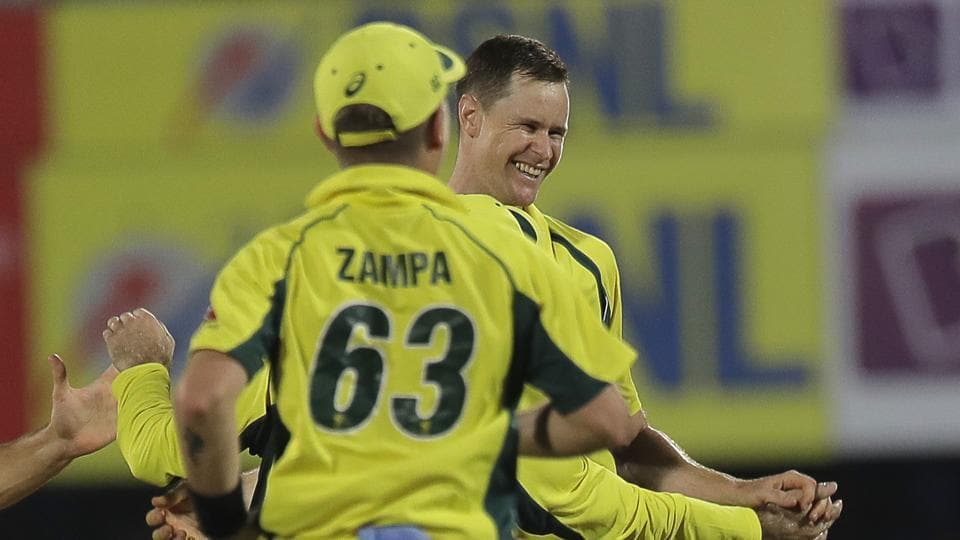 Riding on Jason Behrendorff's 4/21, Australia beat India by eight wickets in the Guwahati T20 to square the series 1-1.