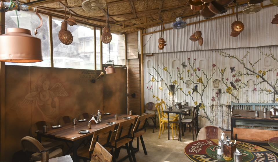The interiors of Curry Tales are charming and quirky.