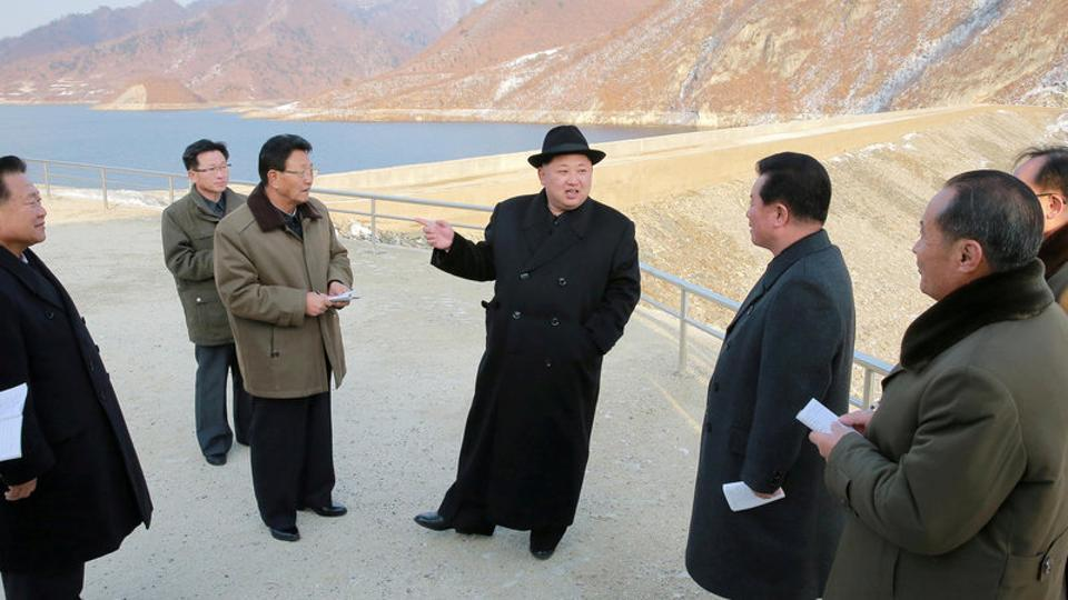 North Korean leader Kim Jong Un visits the Wonsan Army-People Power Station in this undated photo released by North Korea's Korean Central News Agency (KCNA) in Pyongyang.